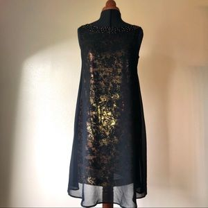 Jessica Simpson Swing Dress Black and Gold
